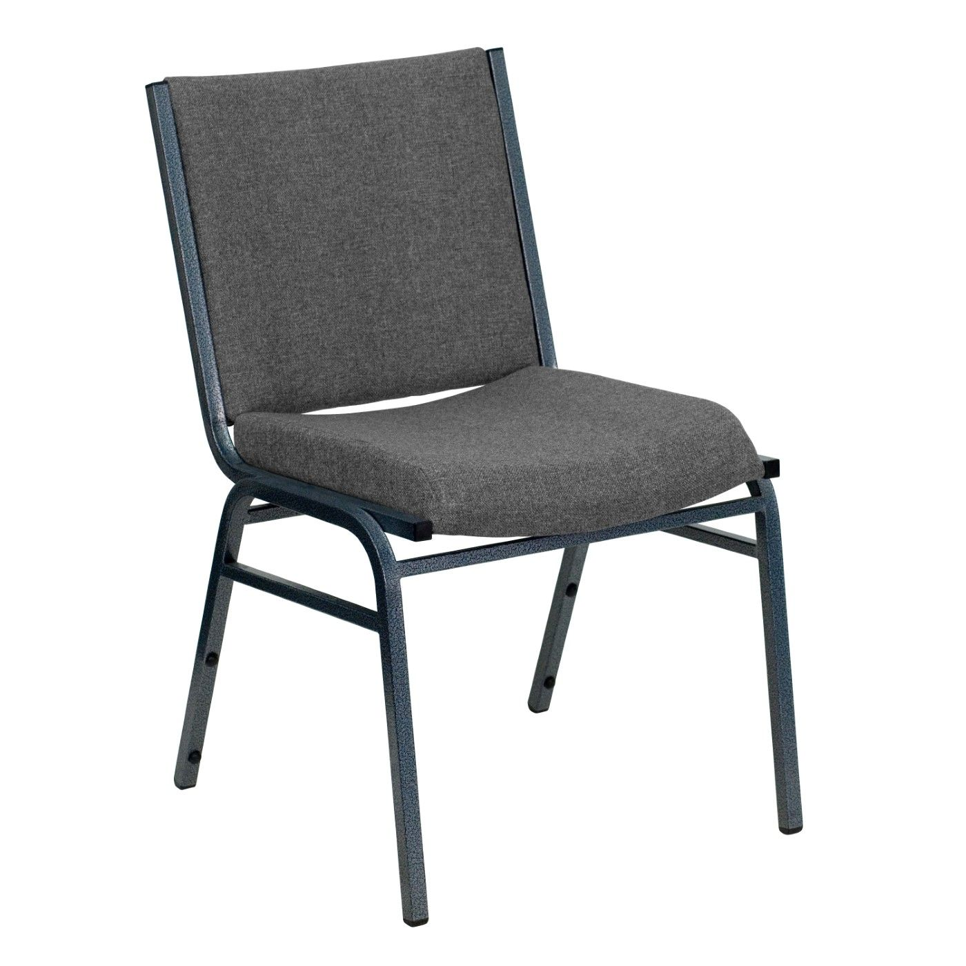 TOUGH ENOUGH Series Heavy Duty Gray Fabric Stack Chair
