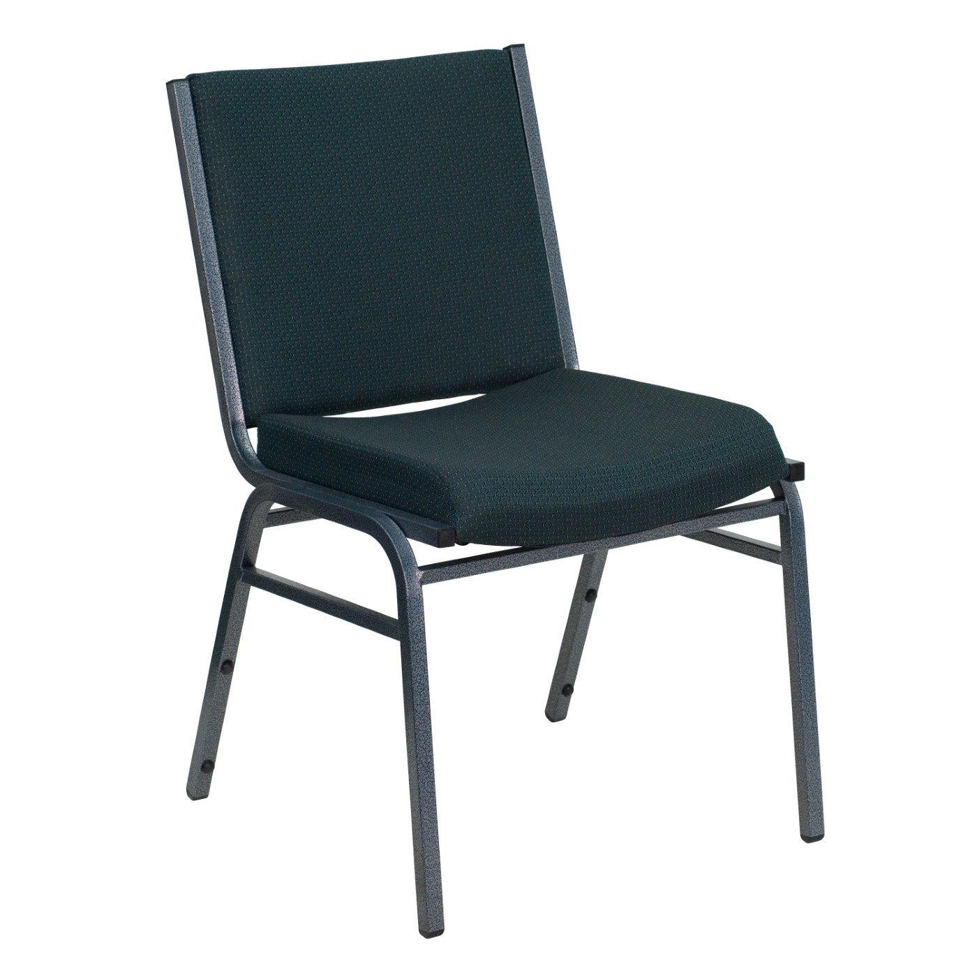 TOUGH ENOUGH Series Heavy Duty Green Patterned Fabric Stack Chair