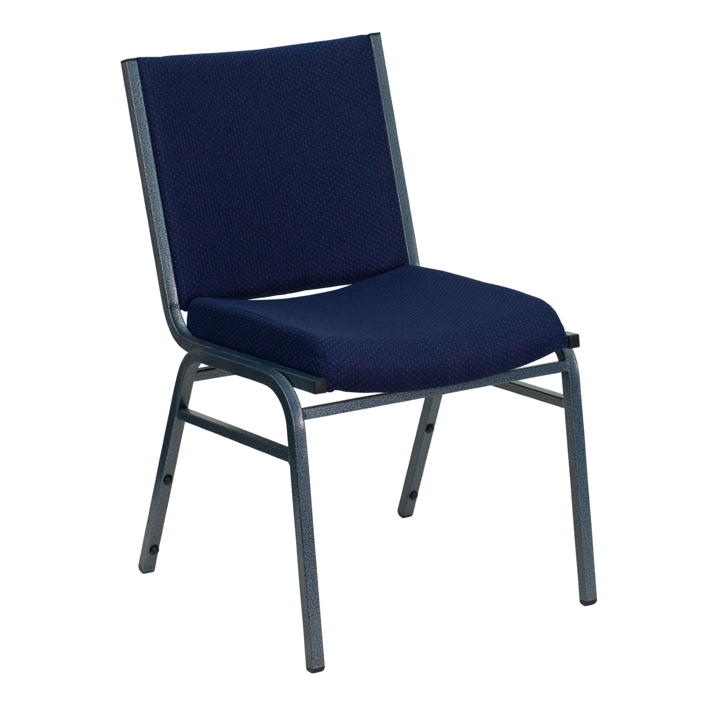 TOUGH ENOUGH Series Heavy Duty Navy Blue Dot Fabric Stack Chair