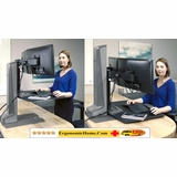 INNOVATIVE WINSTON  DUAL MONITOR STAND #WNSTE-2-270. STAND UP TO WORK FIT. ADD TO CART FOR FREE SHIPPING.