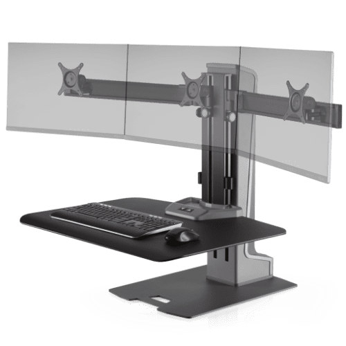 INNOVATIVE WINSTON ELECTRIC TRIPLE MONITOR STAND #WNSTE-3-270. ADD TO CART FOR FREE SHIPPING.