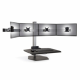 """INNOVATIVE WINSTON QUAD MONITOR STAND ERGONOMIC WORKSTATION ACCOMMODATES MOST WIDESCREEN MONITORS UP TO 24"""". #WNST-4-FS"""