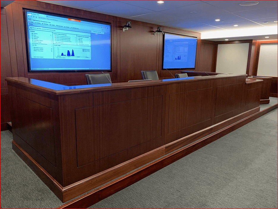 JUDGE'S DESK COURTROOM BENCHES: