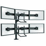 MASTER YOUR MONITORS W/MONITOR STANDS AND ARMS OFFERED IN SINGLE, DUAL, TRIPLE, QUAD, AND MULTIPLE MONITOR APPLICATIONS