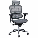 Mesh Chair W/Headrest Keeps You Cool, Comfy = Productive.