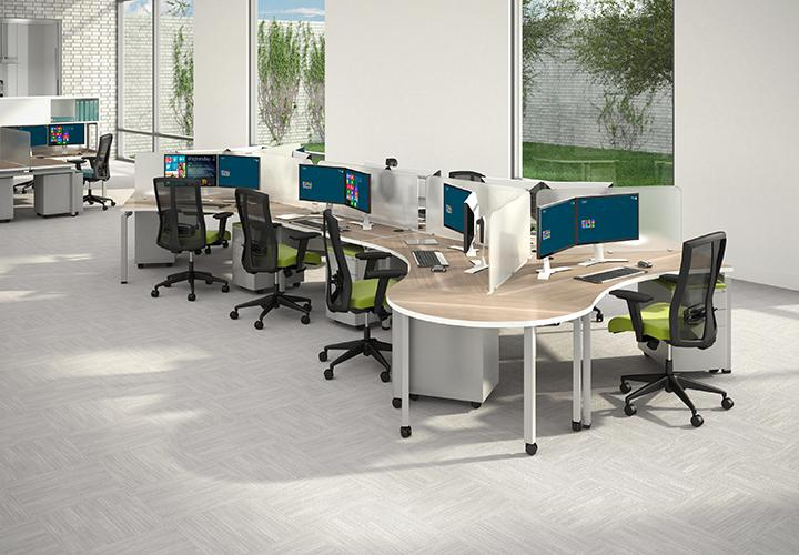 MODULAR CONTROL ROOM WORKSTATIONS. FIXED HEIGHT. SHIPS IN 5-7 BIZ DAYS W/FREE SHIPPING.
