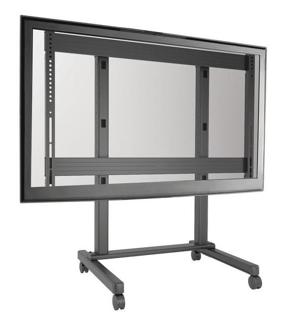 CHIEF MONITOR CARTS ON CASTERS FOR EASY MOBILITY: