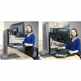 MOTORIZED DUAL MONITOR STAND. INNOVATIVE WINSTON #WNSTE-2-270. STAND UP, TO WORK FIT. ADD TO CART FOR FREE SHIPPING.