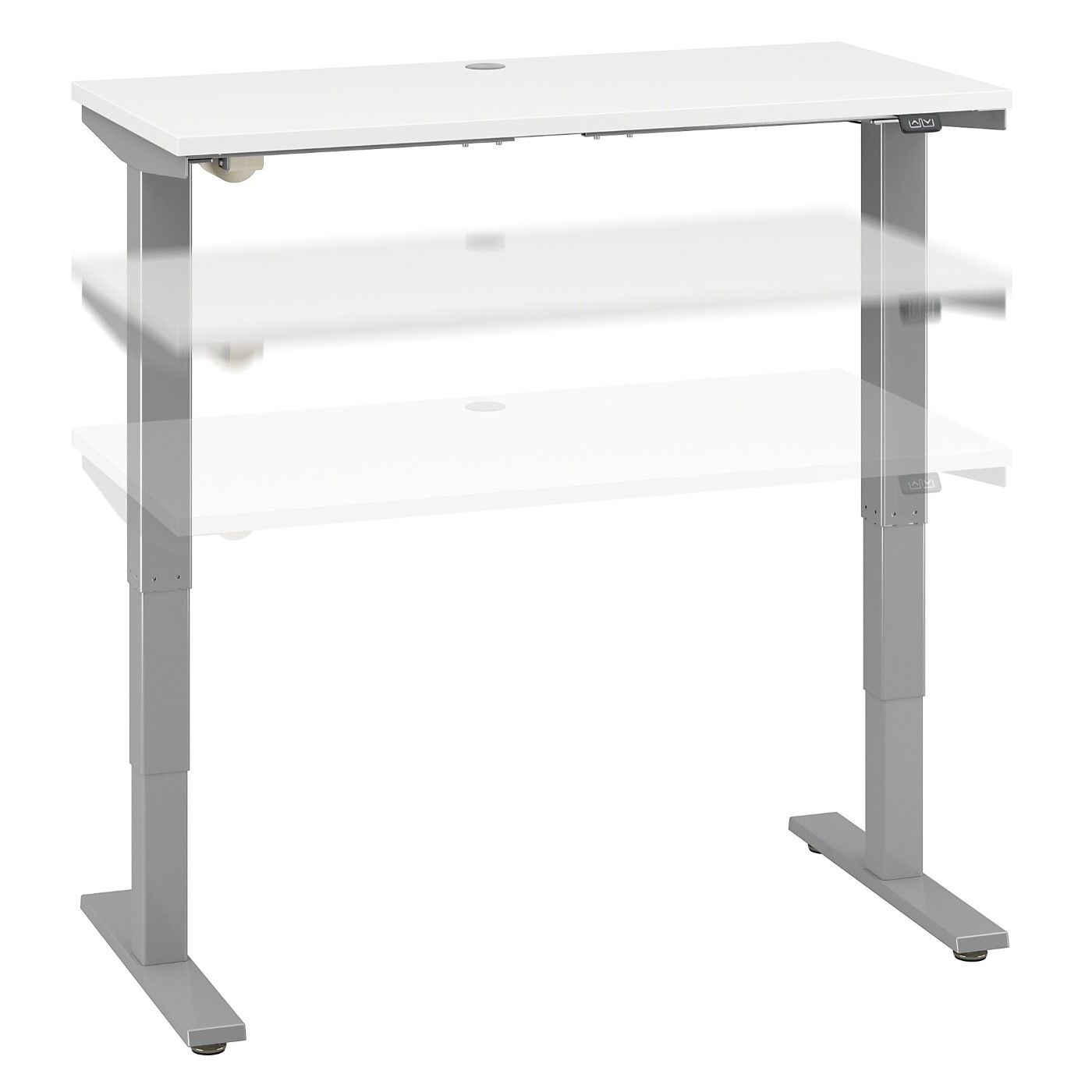 MOVE 40 SERIES BY BUSH BUSINESS FURNITURE 48W X 24D HEIGHT ADJUSTABLE STANDING DESK. FREE SHIPPING