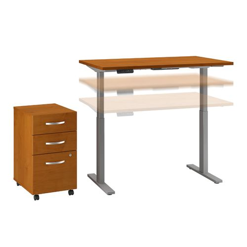 MOVE 60 SERIES BY BUSH BUSINESS FURNITURE 48W X 24D HEIGHT ADJUSTABLE STANDING DESK WITH STORAGE. FREE SHIPPING - <font color=red><b>OUT OF STOCK</b></font>