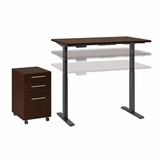 MOVE 60 SERIES BY BUSH BUSINESS FURNITURE 48W X 24D HEIGHT ADJUSTABLE STANDING DESK WITH STORAGE. FREE SHIPPING