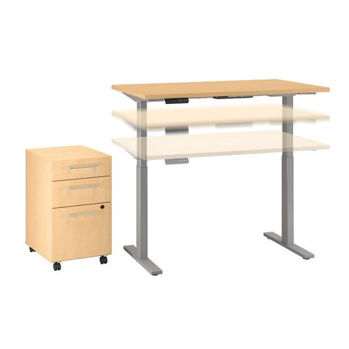MOVE 60 SERIES BY BUSH BUSINESS FURNITURE 48W X 30D HEIGHT ADJUSTABLE STANDING DESK WITH STORAGE. FREE SHIPPING