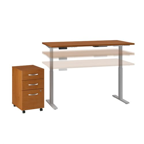 MOVE 60 SERIES BY BUSH BUSINESS FURNITURE 60W X 30D HEIGHT ADJUSTABLE STANDING DESK WITH STORAGE. FREE SHIPPING - <font color=red><b>OUT OF STOCK</b></font>
