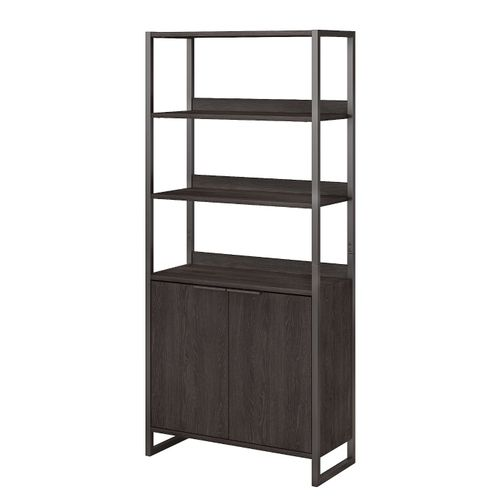 </b></font><b>The kathy ireland� Atria 5 Shelf Bookcase with Doors is Sustainable Eco Friendly Furniture. Includes Free Shipping! 30H x 72L x 72W</font>. </b></font></b>