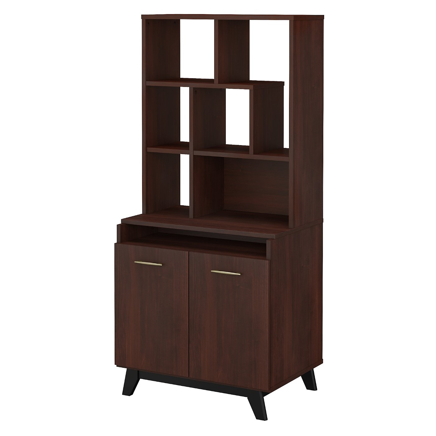 The kathy ireland� Centura 2 Door Accent Storage Cabinet with Bookcase Hutch is Sustainable Eco Friendly Furniture. Includes Free Shipping! 30H x 72L x 72W.