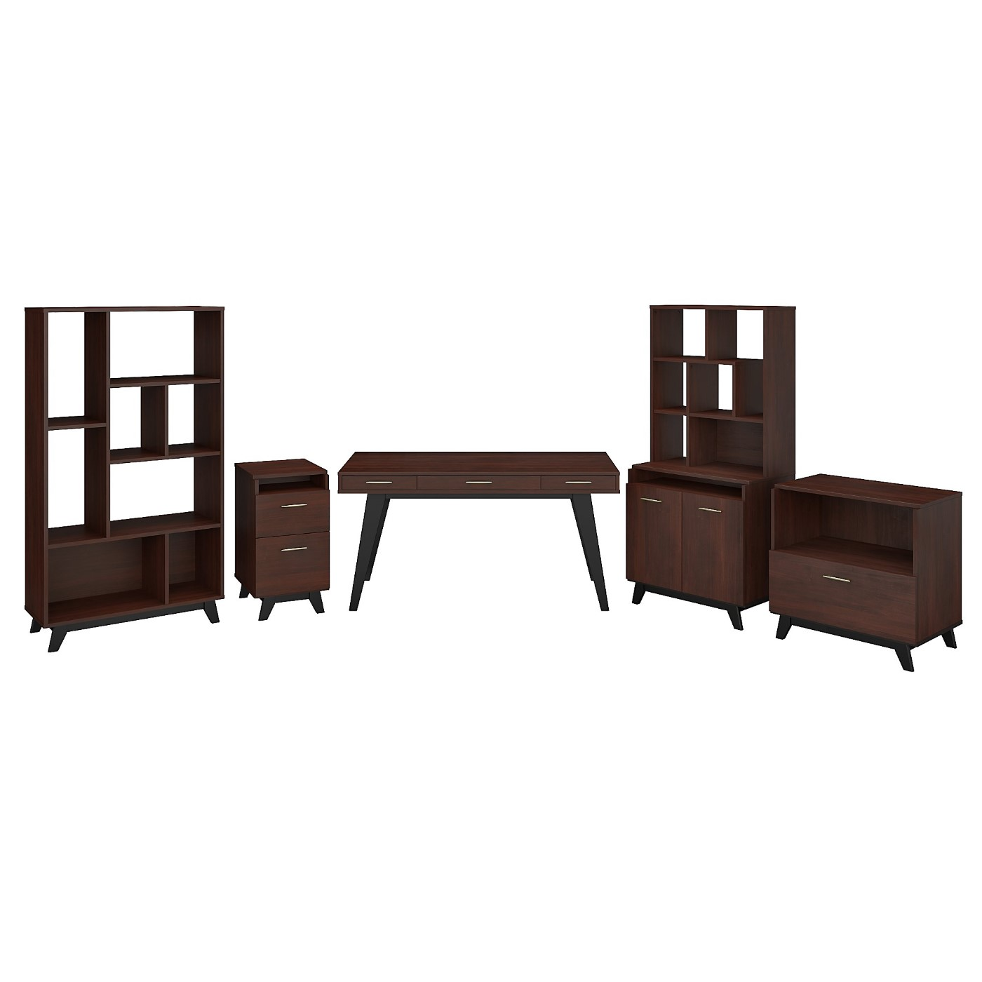</b></font><b>The kathy ireland� Centura 60W x 30D Writing Desk with File Cabinets, Bookcase, Accent Storage Cabinet and Bookcase Hutch is Sustainable Eco Friendly Furniture. Includes Free Shipping! 30H x 72L x 72W</font>. <p>RATING:&#11088;&#11088;&#11088;&#11088;&#11088;</b></font></b>