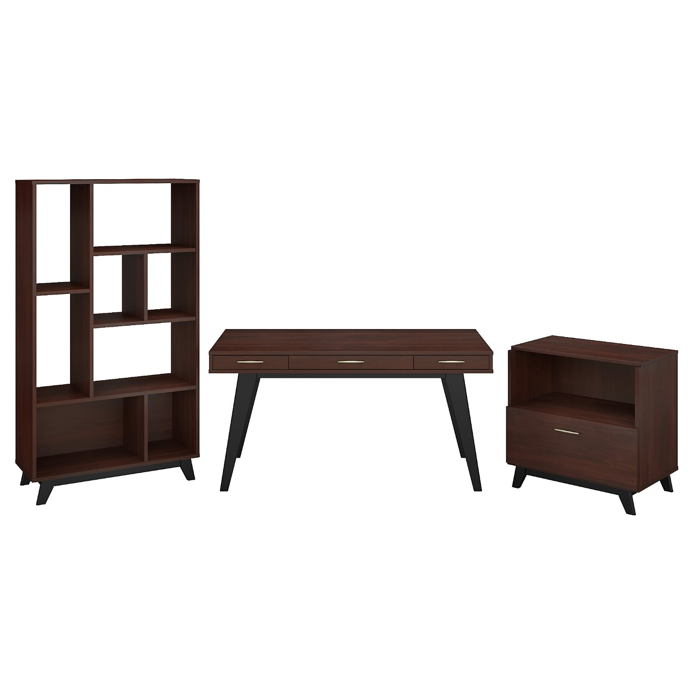</b></font><b>The kathy ireland� Centura 60W x 30D Writing Desk with Lateral File Cabinet and Bookcase is Sustainable Eco Friendly Furniture. Includes Free Shipping! 30H x 72L x 72W</b></font>  VIDEO BELOW. <p>RATING:&#11088;&#11088;&#11088;&#11088;&#11088;</b></font></b>