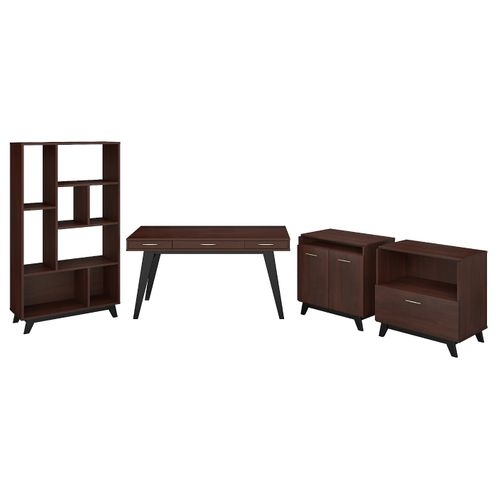 </b></font><b>The kathy ireland� Centura 60W x 30D Writing Desk with Lateral File Cabinet, Bookcase and Accent Storage Cabinet is Sustainable Eco Friendly Furniture. Includes Free Shipping! 30H x 72L x 72W</b></font>  VIDEO BELOW. </b></font></b>