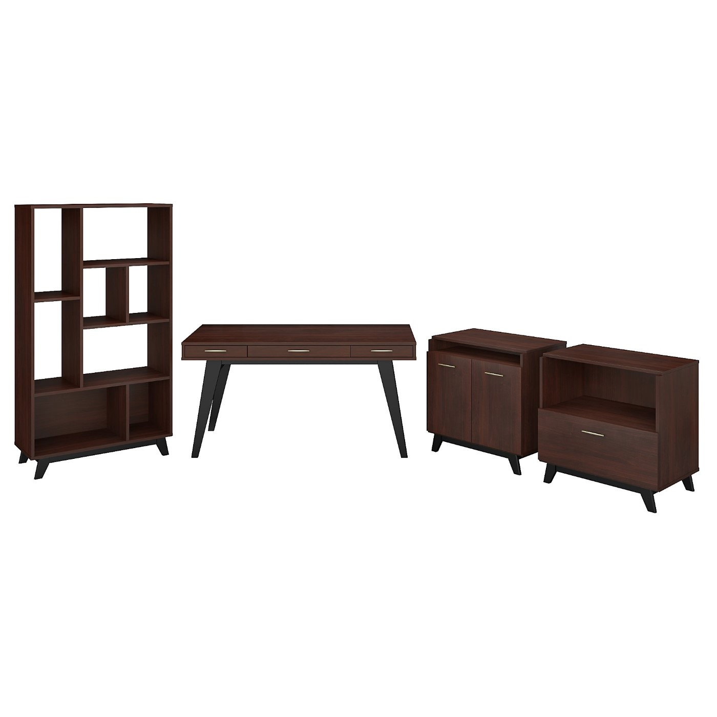 </b></font><b>The kathy ireland� Centura 60W x 30D Writing Desk with Lateral File Cabinet, Bookcase and Accent Storage Cabinet is Sustainable Eco Friendly Furniture. Includes Free Shipping! 30H x 72L x 72W</b></font>  VIDEO BELOW. <p>RATING:&#11088;&#11088;&#11088;&#11088;&#11088;</b></font></b>