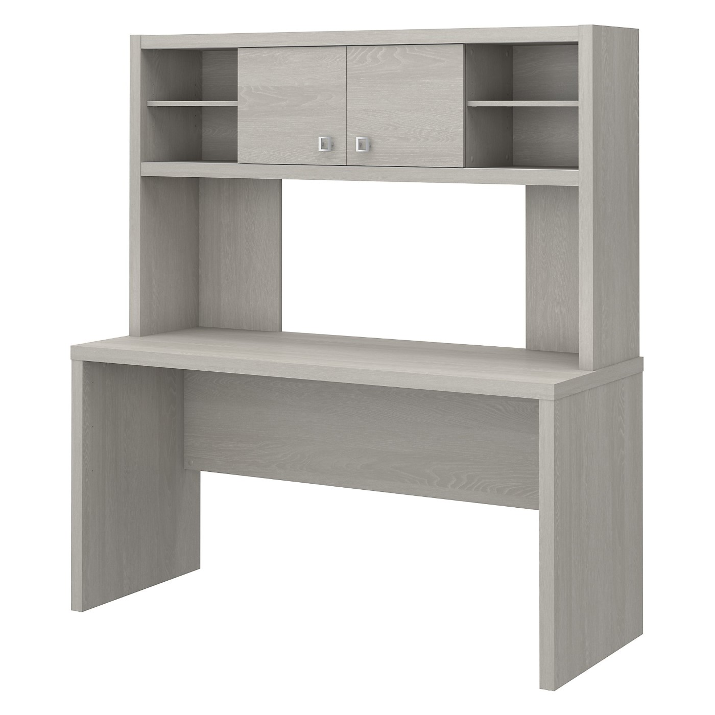 The kathy ireland� Echo 60W Credenza Desk with Hutch is Sustainable Eco Friendly Furniture. Includes Free Shipping! 30H x 72L x 72W  VIDEO BELOW.