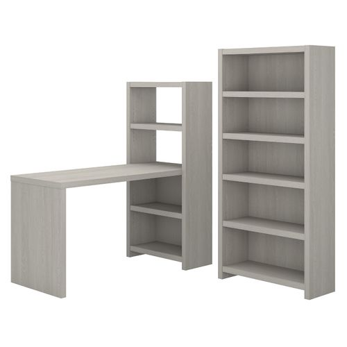 </b></font><b>The kathy ireland� Echo Bookcase Desk with Storage is Sustainable Eco Friendly Furniture. Includes Free Shipping! 30H x 72L x 72W</font>. </b></font></b>
