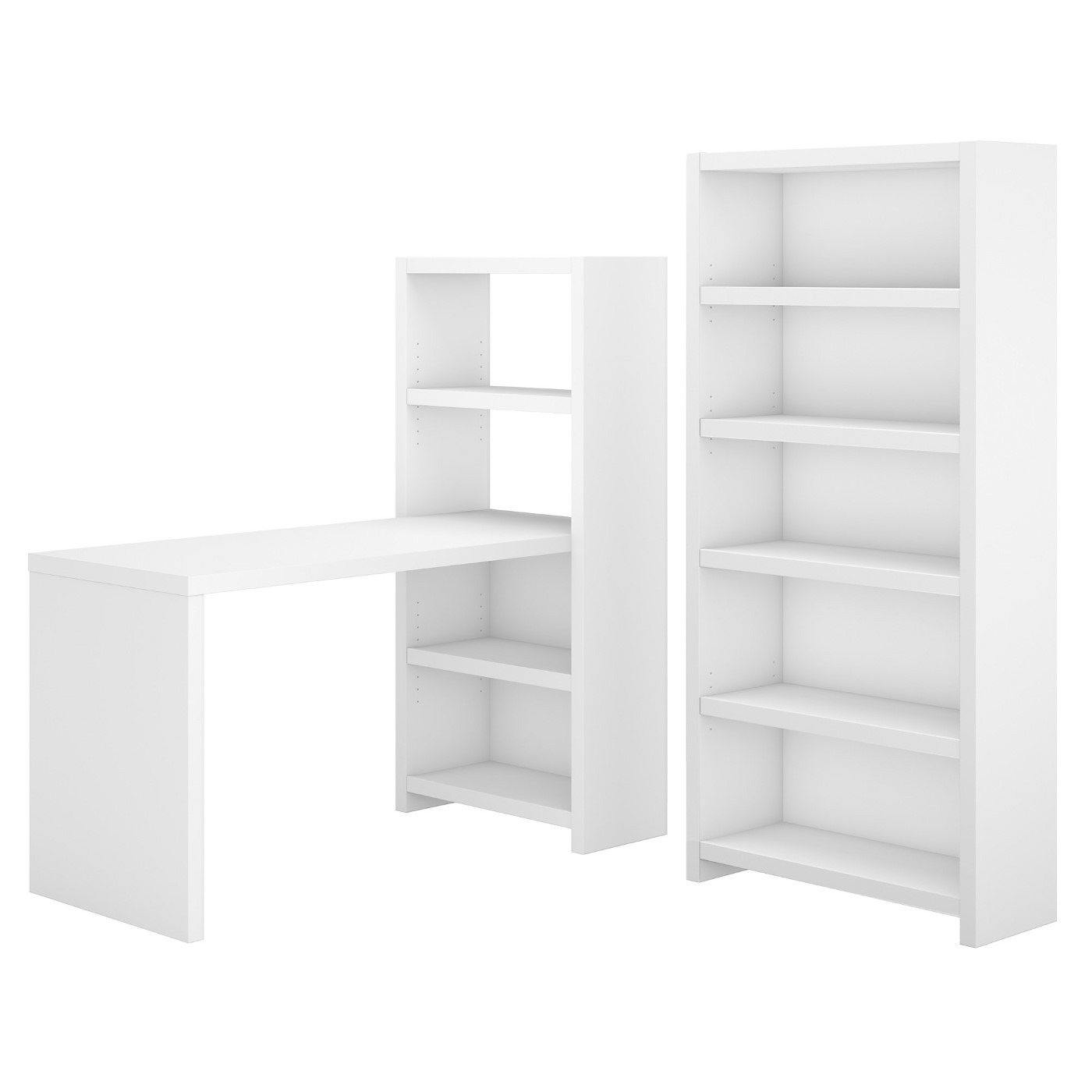 OFFICE BY KATHY IRELAND� ECHO BOOKCASE DESK WITH STORAGE. FREE SHIPPING