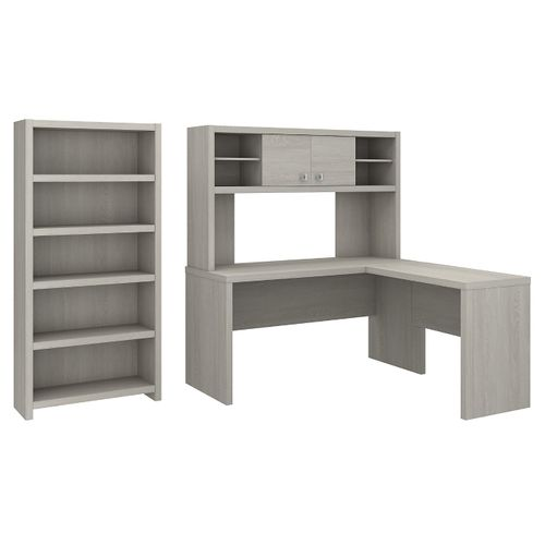 </b></font><b>The kathy ireland� Echo L Shaped Desk with Hutch and 5 Shelf Bookcase is Sustainable Eco Friendly Furniture. Includes Free Shipping! 30H x 72L x 72W</b></font>  VIDEO BELOW. </b></font></b>