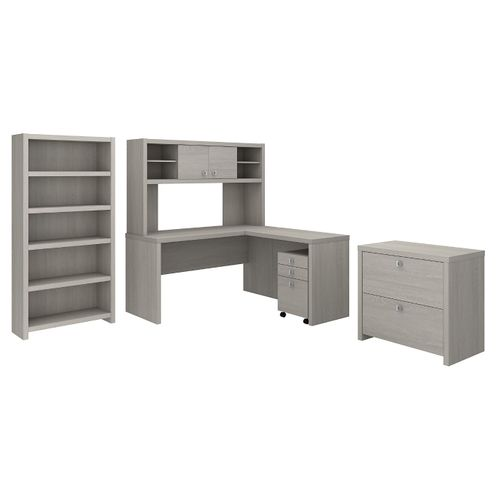 </b></font><b>The kathy ireland� Echo L Shaped Desk with Hutch, Bookcase and File Cabinets is Sustainable Eco Friendly Furniture. Includes Free Shipping! 30H x 72L x 72W</b></font>  VIDEO BELOW. </b></font></b>