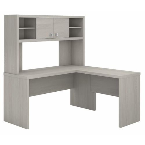 The kathy ireland® Echo L Shaped Desk with Hutch is Sustainable Eco Friendly Furniture. Includes Free Shipping! 30H x 72L x 72W  VIDEO BELOW.