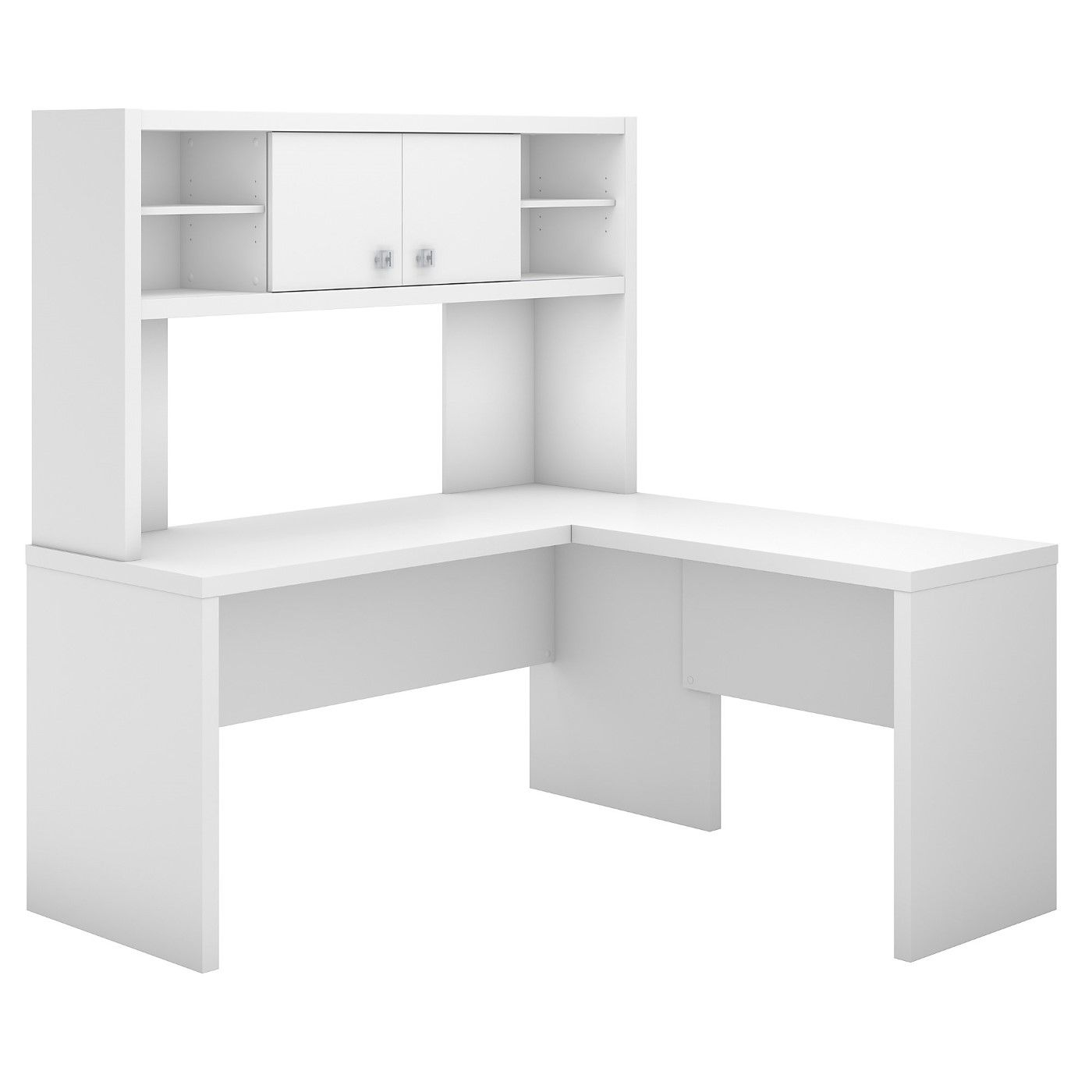 OFFICE BY KATHY IRELAND� ECHO L SHAPED DESK WITH HUTCH. FREE SHIPPING