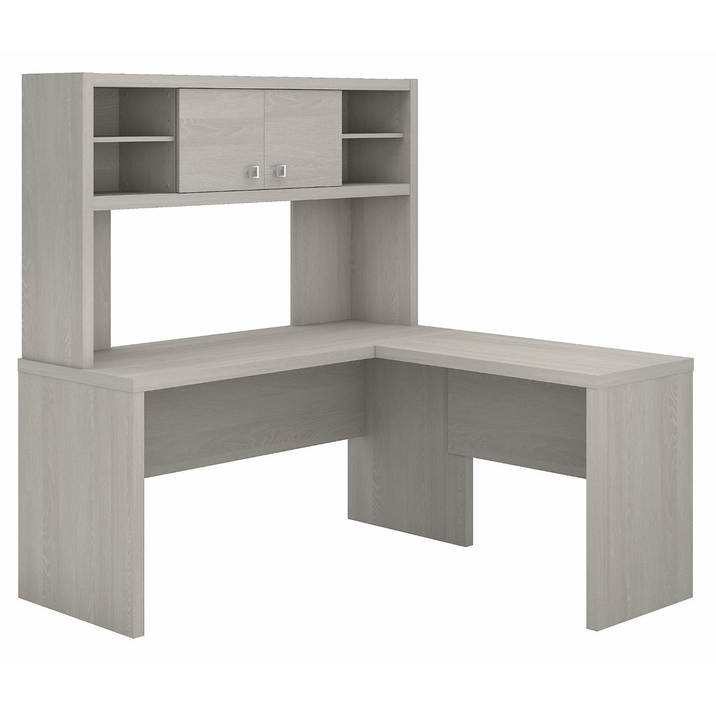 The kathy ireland� Echo L Shaped Desk with Hutch is Sustainable Eco Friendly Furniture. Includes Free Shipping! 30H x 72L x 72W  VIDEO BELOW.