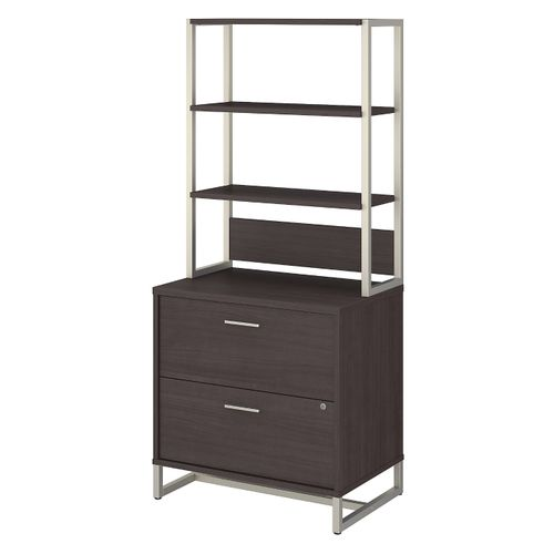 OFFICE BY KATHY IRELAND® METHOD 2 DRAWER LATERAL FILE CABINET WITH HUTCH. FREE SHIPPING - <font color=red><b>OUT OF STOCK</b></font>