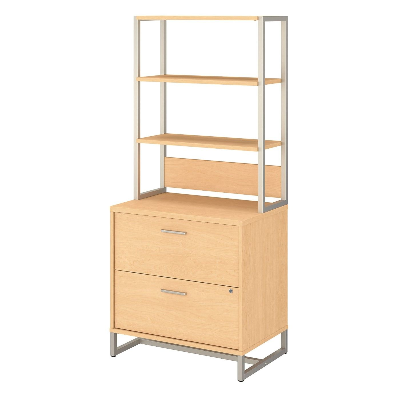 OFFICE BY KATHY IRELAND� METHOD 2 DRAWER LATERAL FILE CABINET WITH HUTCH. FREE SHIPPING