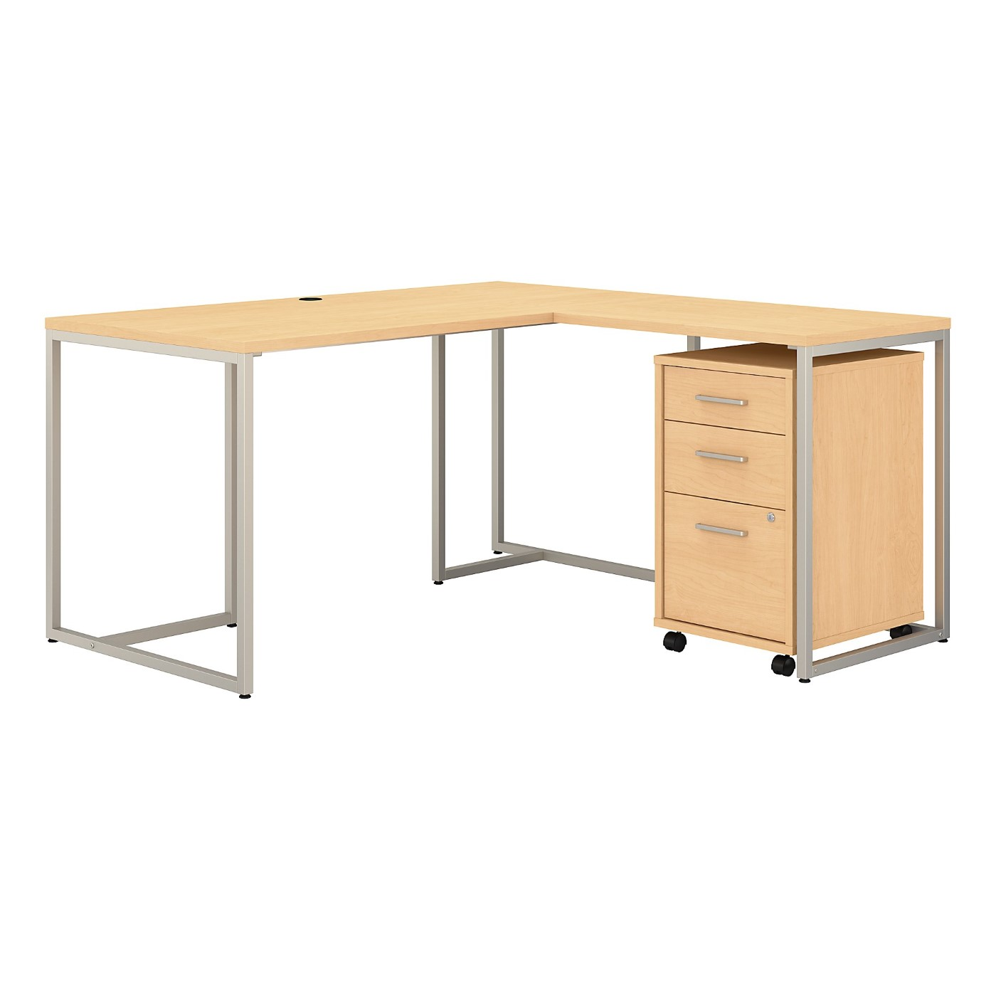 OFFICE BY KATHY IRELAND® METHOD 60W L SHAPED DESK WITH 30W RETURN AND MOBILE FILE CABINET. FREE SHIPPING SALE DEDUCT 10% MORE ENTER '10percent' IN COUPON CODE BOX WHILE CHECKING OUT.