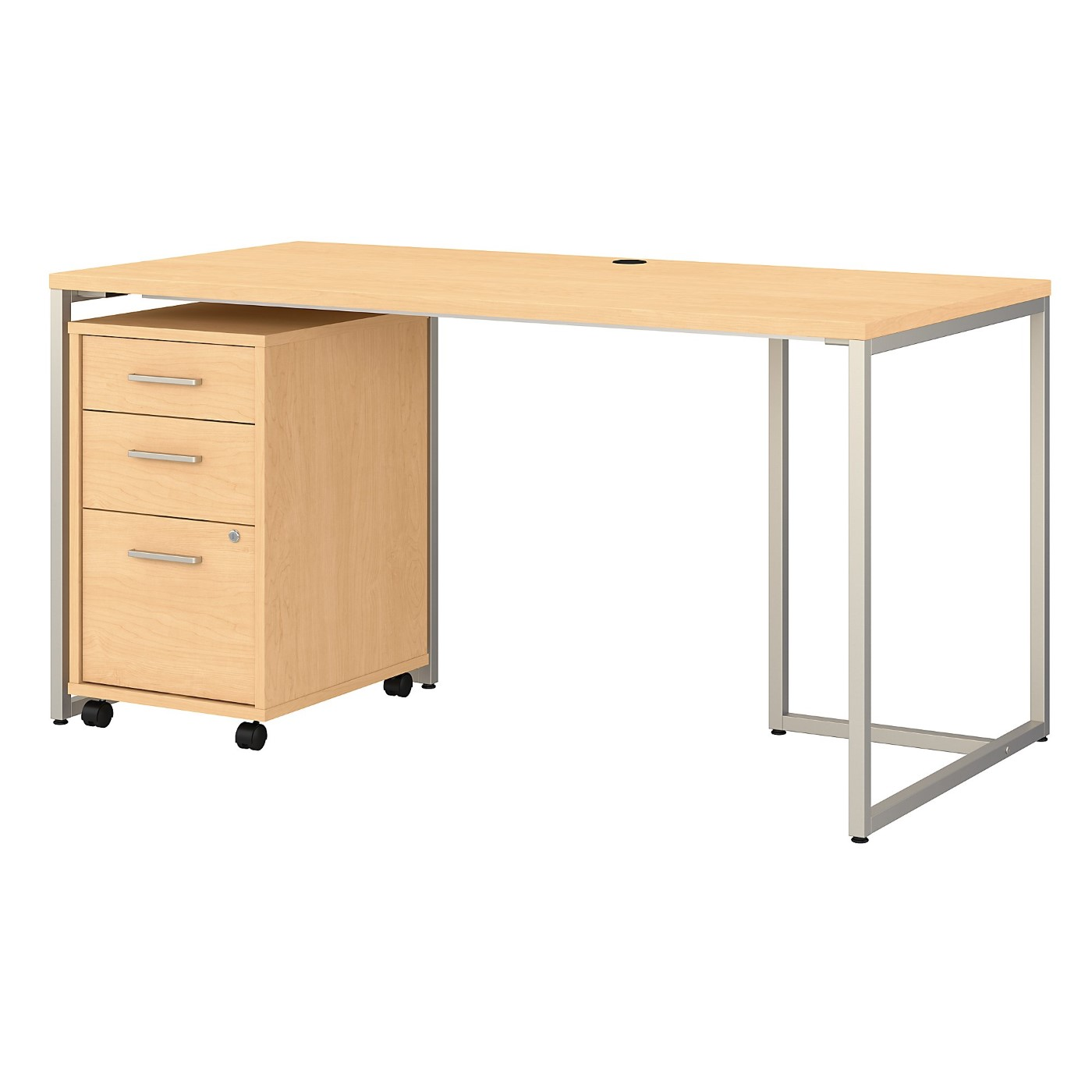 OFFICE BY KATHY IRELAND� METHOD 60W TABLE DESK WITH 3 DRAWER MOBILE FILE CABINET. FREE SHIPPING