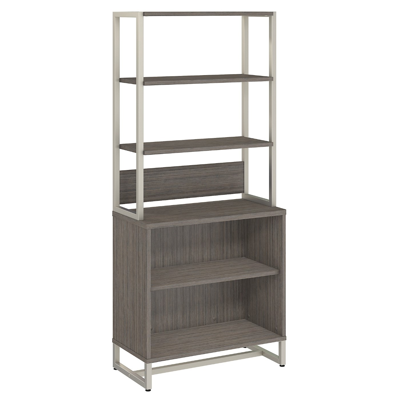 OFFICE BY KATHY IRELAND� METHOD BOOKCASE WITH HUTCH. FREE SHIPPING