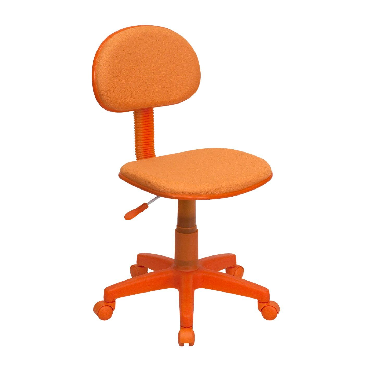 Orange Fabric Swivel Task Office Chair