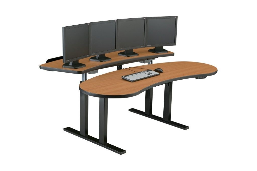 "PACS Radiology Furniture. Ergonomic Sit Stand Desk. Optional Widths: 60"", 65"", 83"", 88"", or 96"". #PACSLGT18E-SQBK. Delivery/Assembly Included.<p>RATING:&#11088;&#11088;&#11088;&#11088;&#11088;</b></font>"