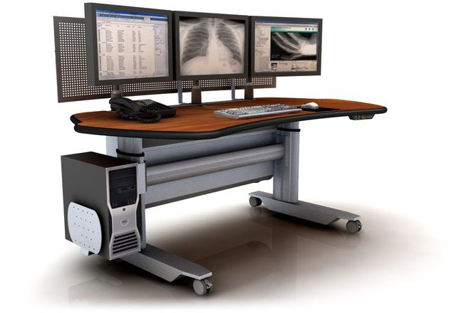 PACS WORKSTATION: ERGONOMIC RADIOLOGY FURNITURE. FREE SHIPPING:</b></font>