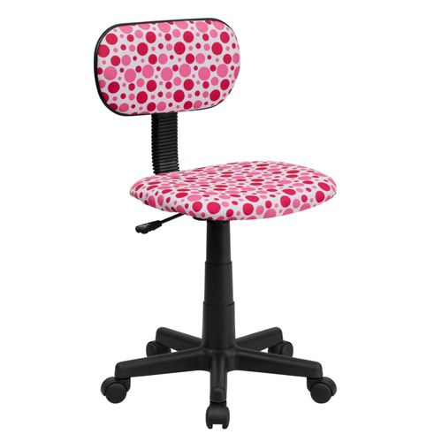 Pink Dot Printed Swivel Task Office Chair