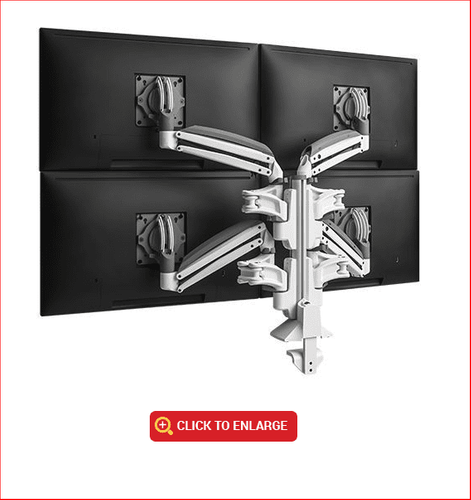 QUAD MONITOR MOUNT CHIEF #KXC420W. VIDEO. ADD TO CART FOR FREE SHIPPING.