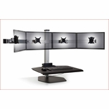 QUAD MONITOR STAND FOR USE FOR MULTIPLE MONITOR STANDS. FREE SHIPPING: