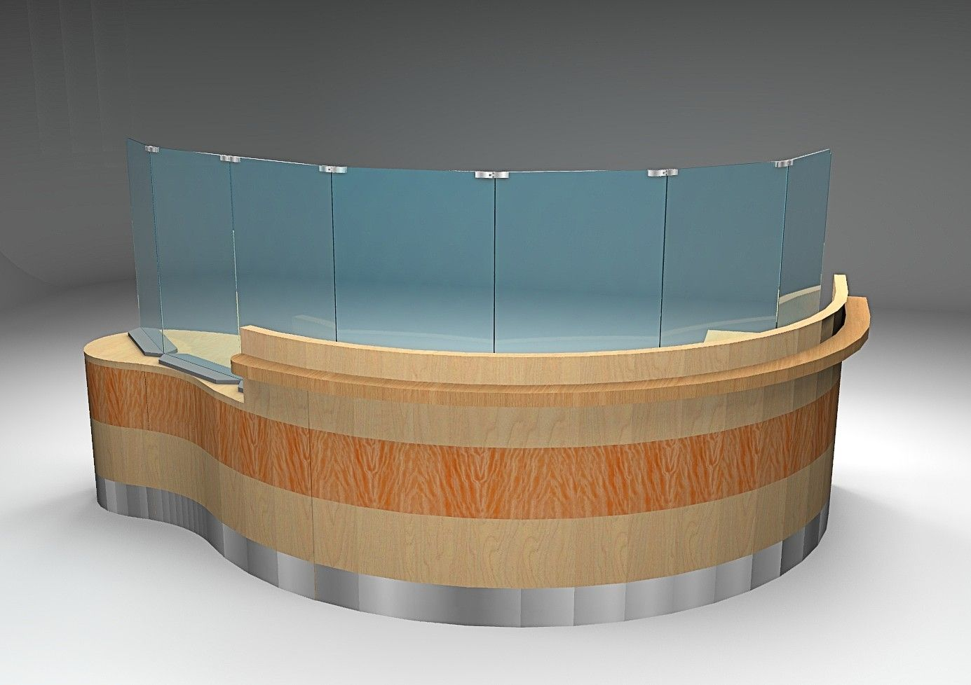 CUSTOM RECEPTION DESKS WITH SOCIAL DISTANCING VERTICAL PROTECTIVE SHIELDS. CONTEMPORARY, TRANSITIONAL, TRADITIONAL: