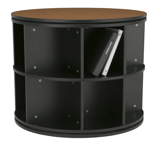 """ROTATING BOOKCASE OFFERED IN 3 SIZES 30"""" - 36"""" - 42"""" DIAM."""