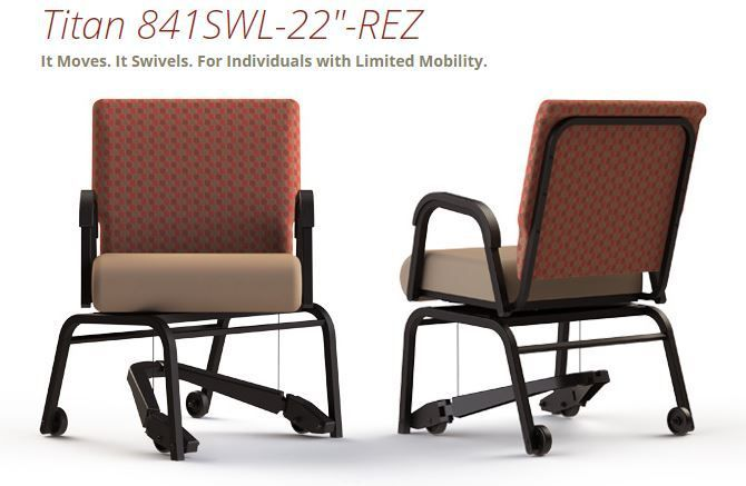 SENIOR LIVING SWIVEL PATIENT CHAIR. SHIPS ASSEMBLED. SUPPORTS 400 LBS. ADD TO CART FOR FREE SHIPPING. VIDEO BELOW.</b></font>