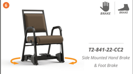 SENIOR LIVING SWIVEL PATIENT CHAIR. SHIPS ASSEMBLED. ADD TO CART FOR FREE SHIPPING. VIDEO BELOW. ITEM # T2-841-22-CC2