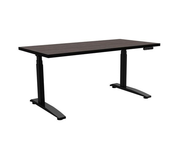 """SIT STAND COMPUTER DESK SSX SERIES. MADE IN USA. DIMENSIONS: 72""""W X 30""""D."""