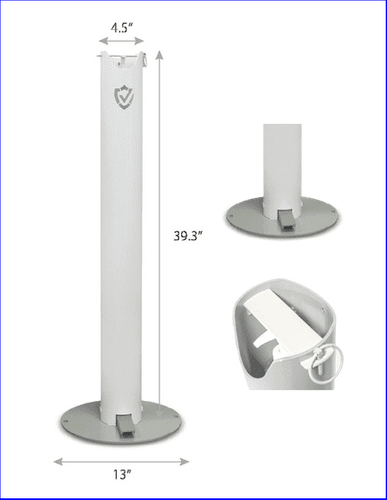 ERGONOMIC HOME SANITIZATION STATION. NO CONTACT WITH HANDS. FREE SHIPPING IN 4 BIZ DAYS! VIDEO: