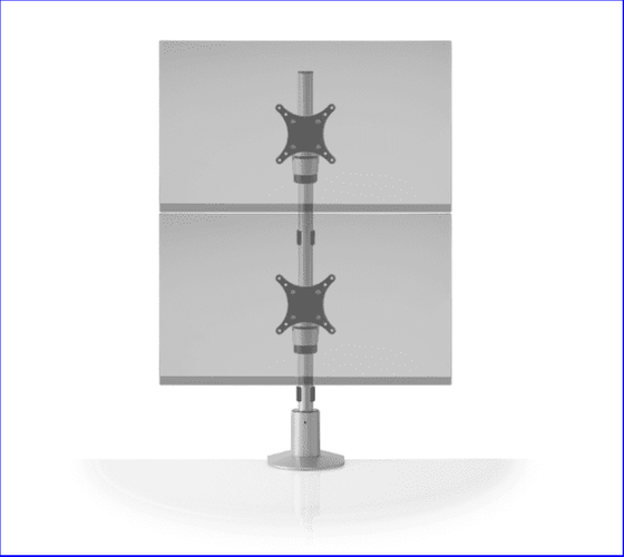 """STAXX DUAL MONITOR STAND HOLDS 2 MONITORS VERTICALLY UP TO 30"""". ITEM #STX-11S. FREE SHIPPING:"""