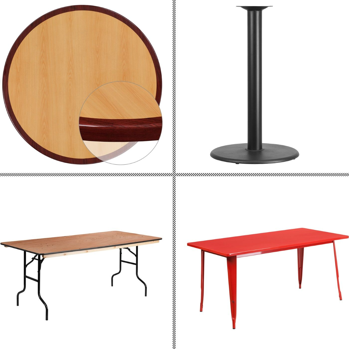 <b><font color=#c60>TABLETOPS | TABLE BASES | TABLES | OUTDOOR TABLES</font></b>